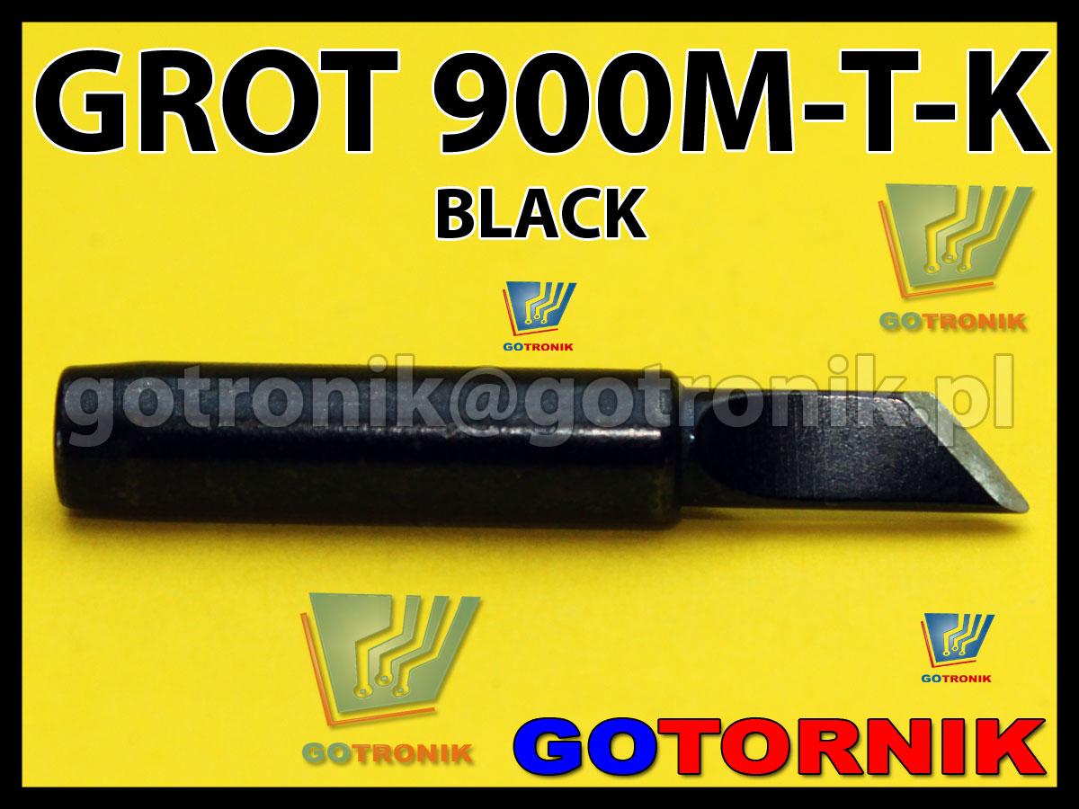 Grot 900M-T-K ścięty BLACK Zhaoxin 936a 936d 852D 898d 868 d Aoyue PT WEP Yihua