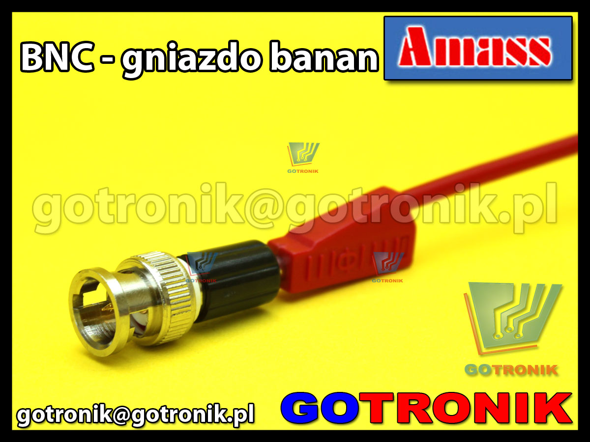 Adapter wtyk BNC - gniazdo banan 4mm amass 21.135