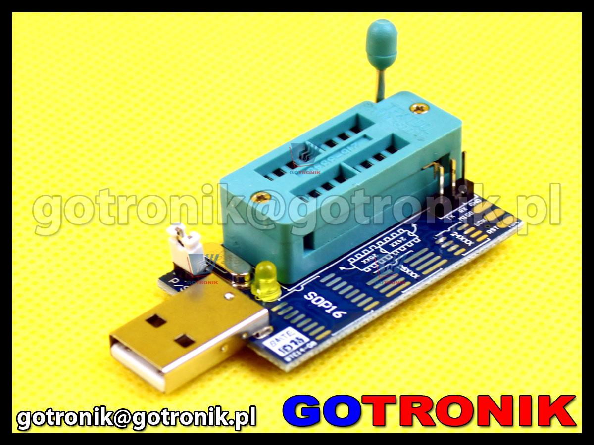 mini programator CH341A do pamięci szeregowych 24Cxx 25xxx i2c spi bios smd
