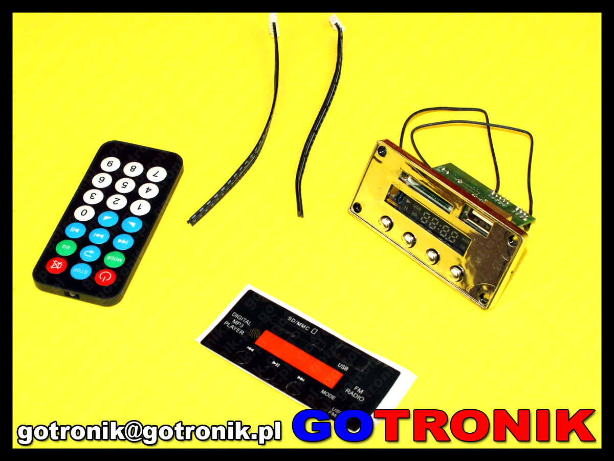 moduł odtwarzacza plików mp3 audio USB / SD card / Bluetooth / FM