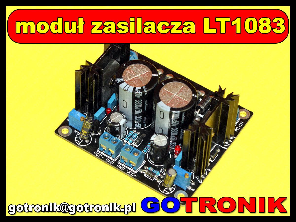 moduł podwójnego zasilacza stabilizowanego dużej mocy LT1083CP LT1083
