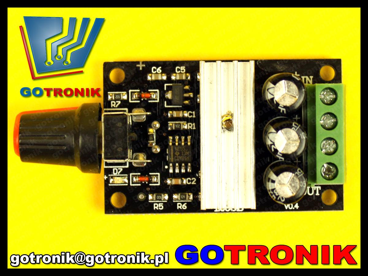 sterownik PWM 80W DC 6V 12V 24V 28V 3A Motor Speed Control Switch Controller