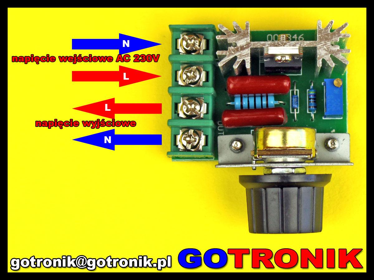 moduł regulatora mocy 2000W 230AC 50Hz