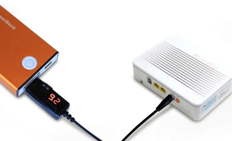zasilacz USB 12V 9V wtyk dc-jack przewód przetwornica napięcia BTE-070 BTE-070