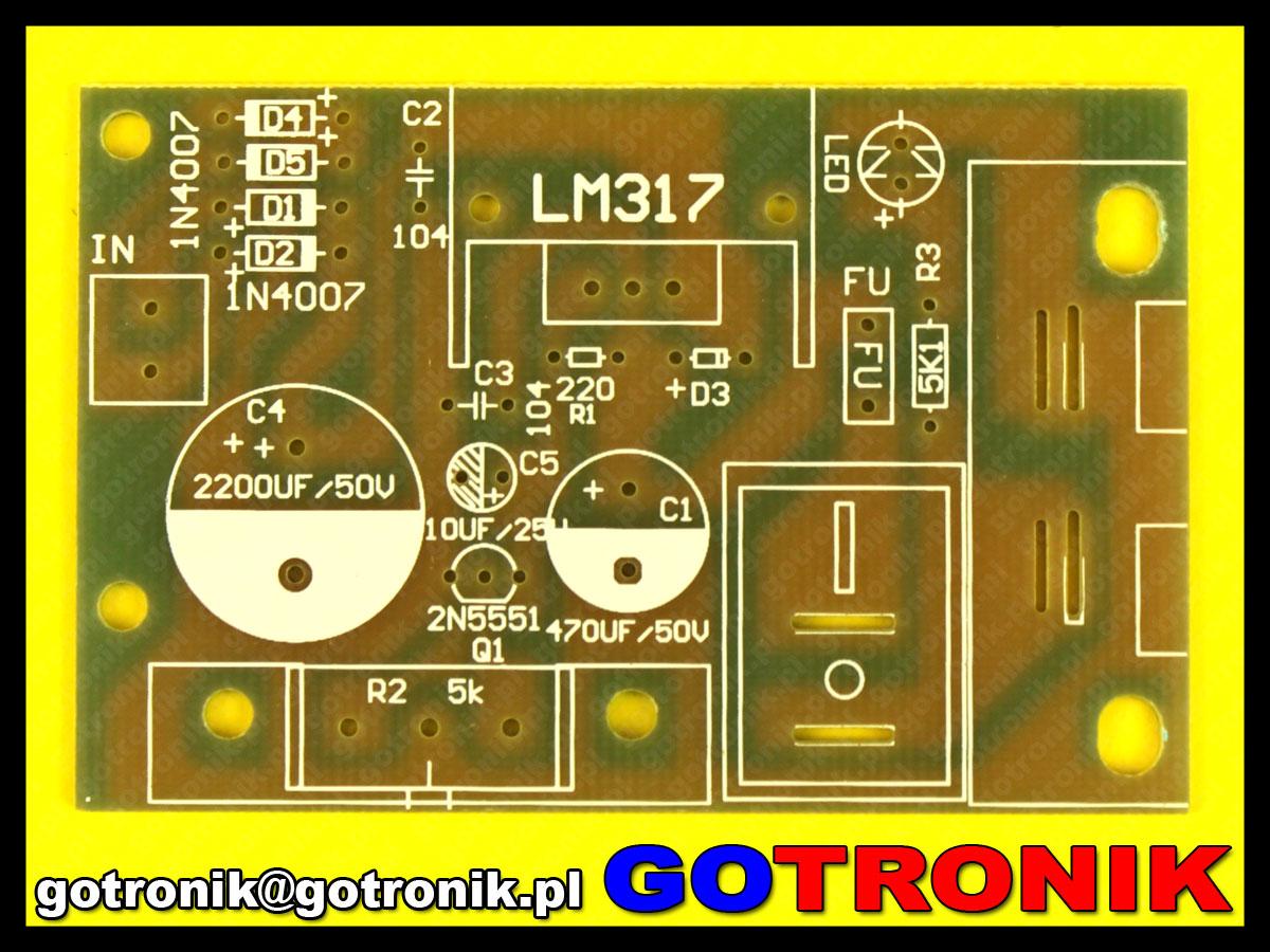 Zasilacz stabilizowany regulowany LM317 napięcie wyjściowe: 1,25V-30Ve-125v30v-p-3920.html