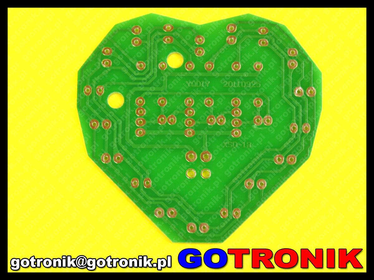 LED lampka w kształcie serca