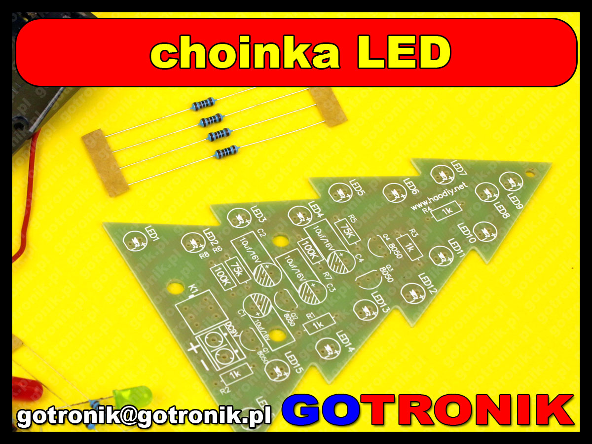 migająca choinka LED Christmas Flashing Light Green Red Flash LED Circuit Christmas Trees LED DIY