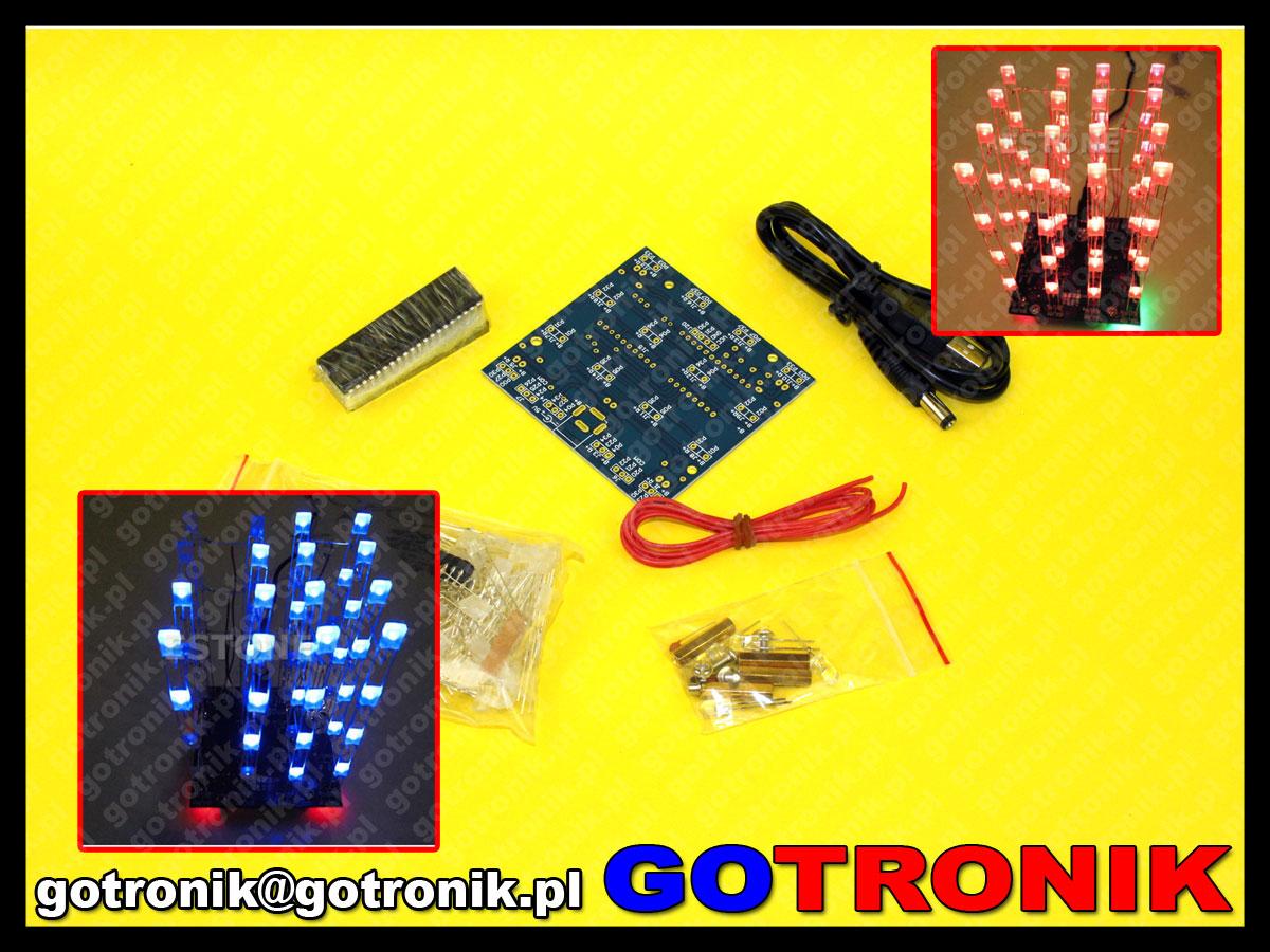 migająca choinka LED Christmas Flashing Light Green Red Flash LED Circuit Christmas Trees LED DIY