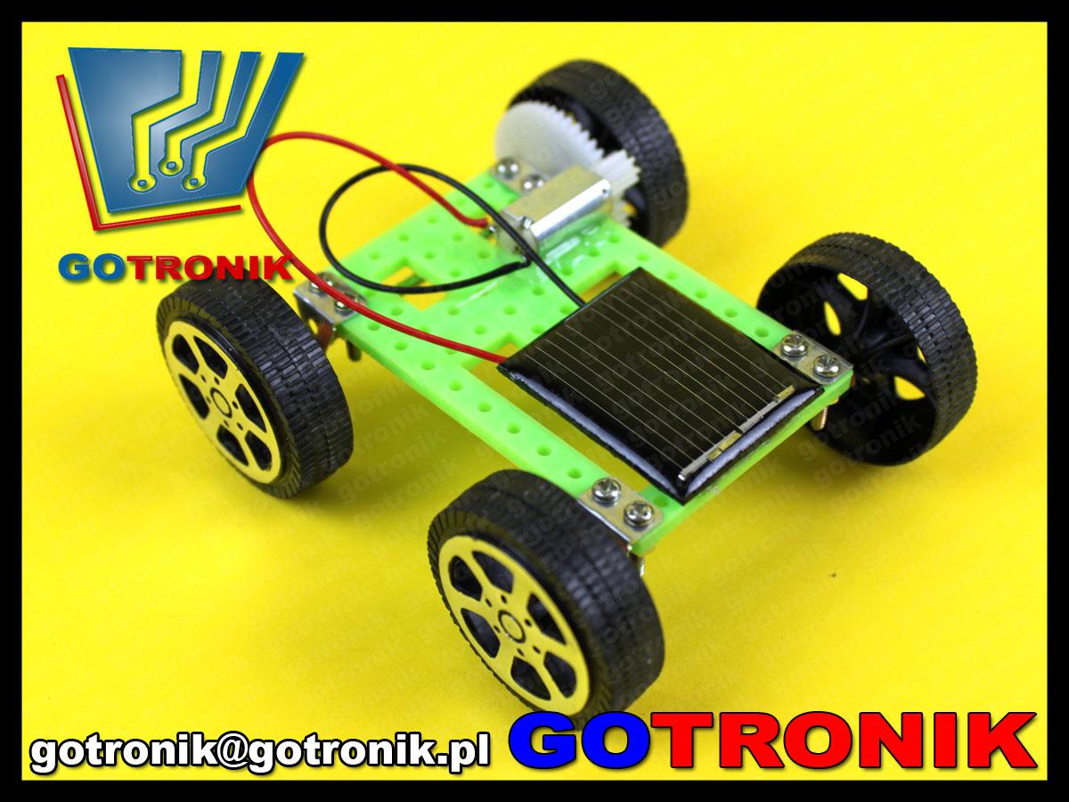 Samochód zasilany bateriami słonecznymi Mini Solar Toy DIY Car Children Educational Puzzle IQ Gadget Cheap