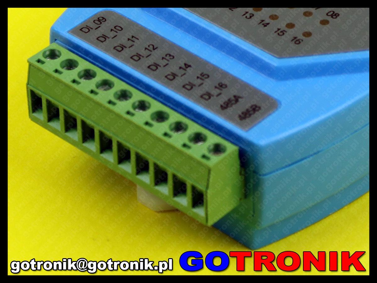 moduł 16 cyfrowych wejść input modbus rs485 wp8026adam wellpro