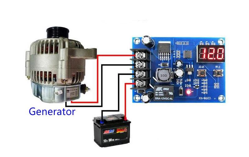BTE-104 kontroler regulator ładowania ładowarki akumulatora 12V z przekaźnikiem mikroprocesorowy