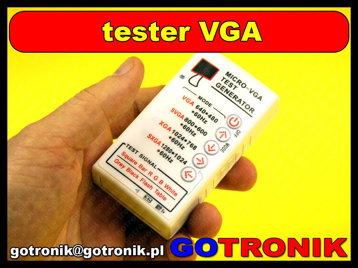tester monitorów VGA LCD CRT signal generator VGA/SXGA/XGA