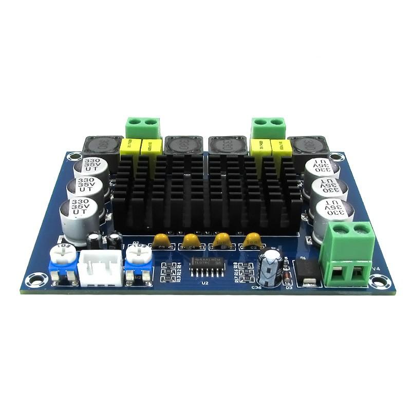 BTE-107 wzmaczniacz mocy audio TPA3116D2 klasa D 100W stereo 2x50W 2x120W 12V-24V