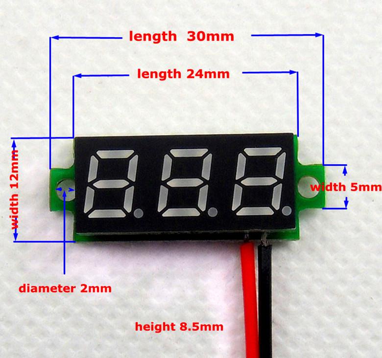 BTE-112 woltomierz DC panelowy LED 30V