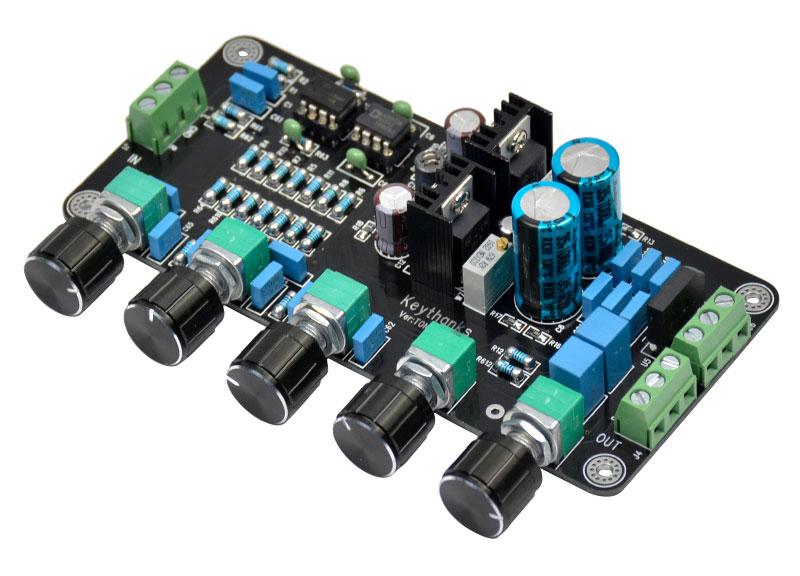 Przedwzmacniacz audio stereo opamp OPA2604AP AD827JN  JRC4558D JRC5532D