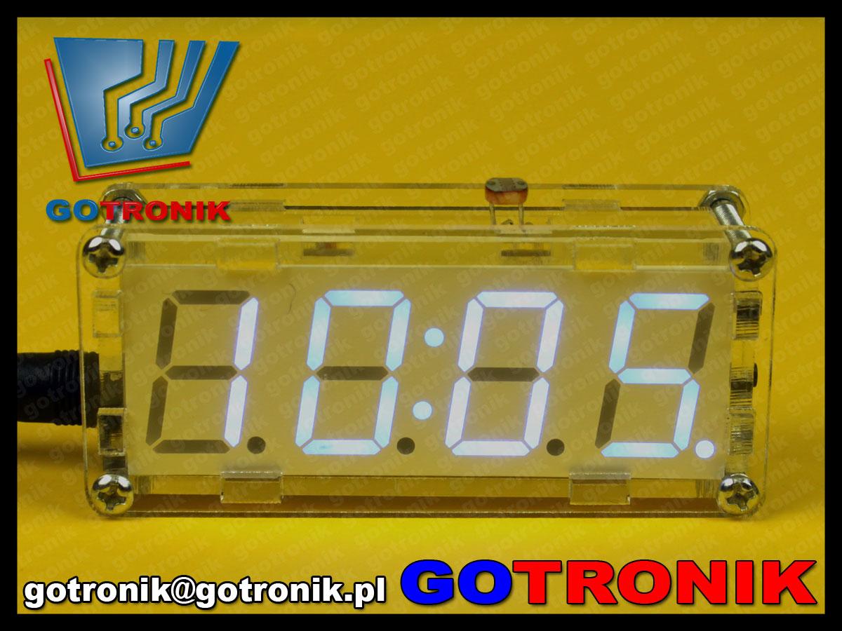 zegar LED z termometrem w przeźroczystej obudowie bte-135