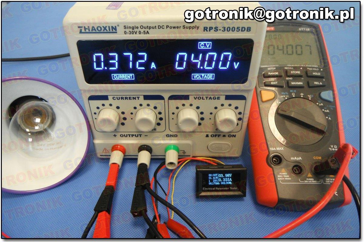 panelowy miernik OLED parametrów elektrycznych