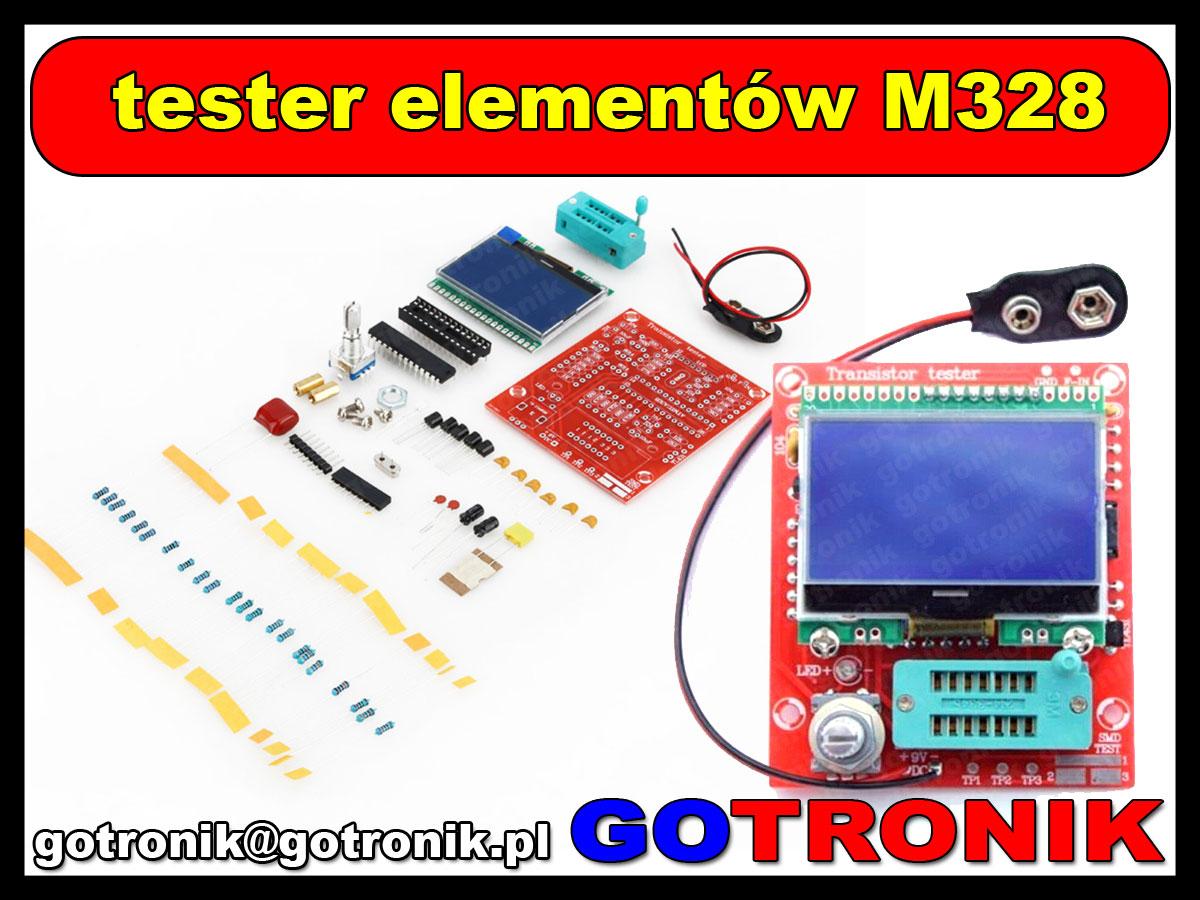 BTE-152 tester elementów elektronicznych LCR M328 PWM ESR tranzystorów