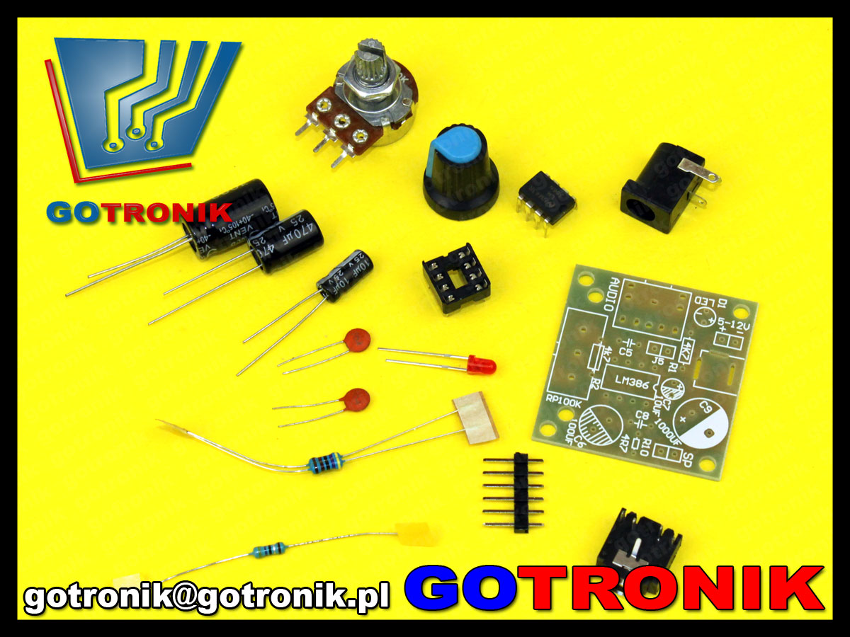 mini wzmacniacz mocy audio lm386 zestaw do samodzielnego montażu kit DIY