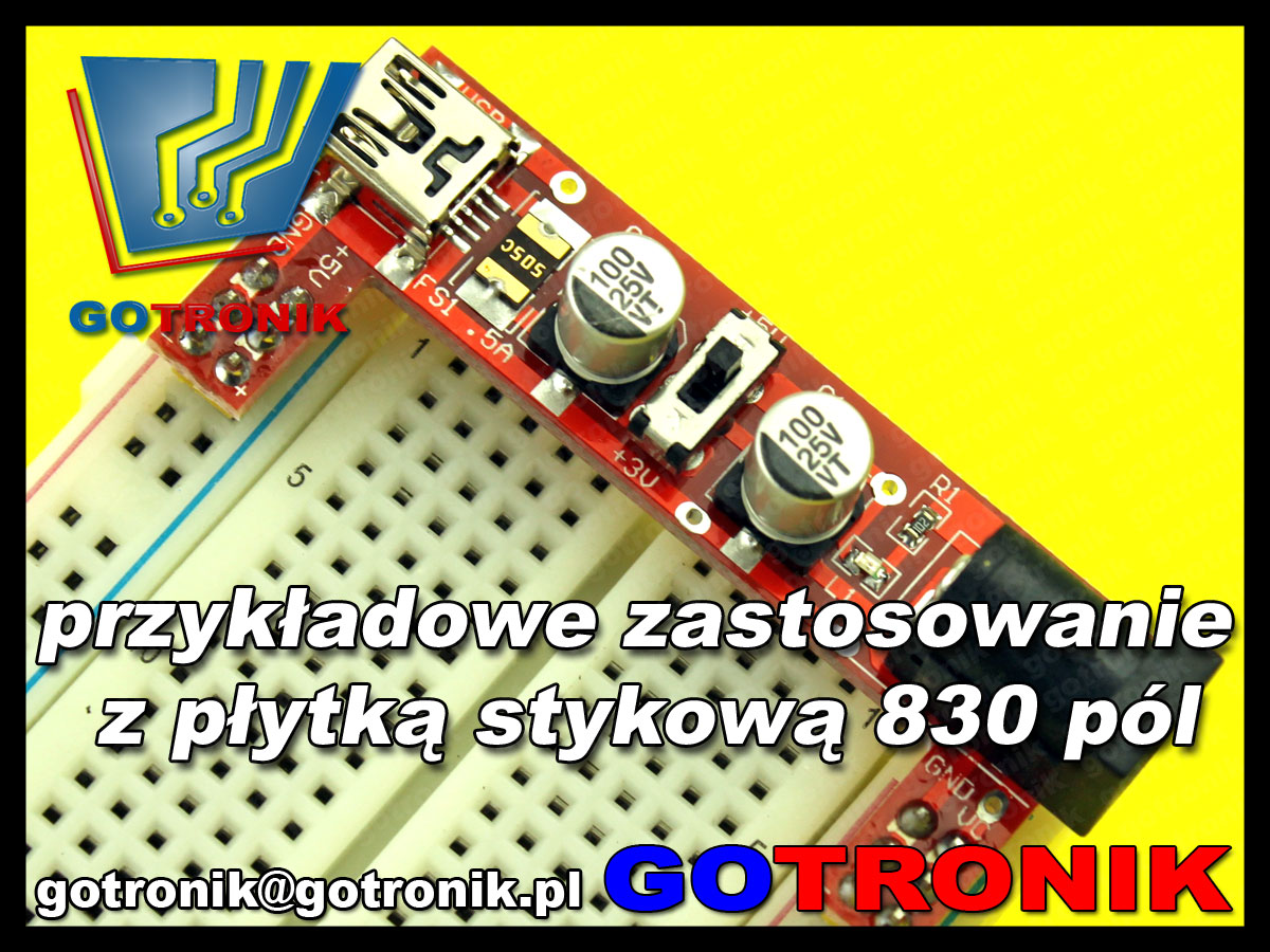 BTE-160 MB102 moduł zasilania do płytek stykowych 5V 3,3V