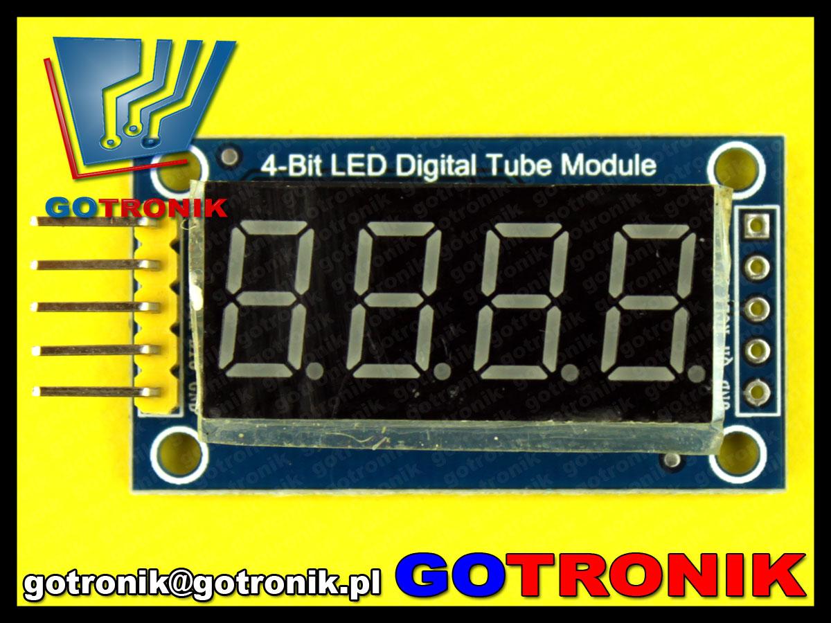 wyświetlacz LED siedmiosegmentowy 74HC595 Arduino