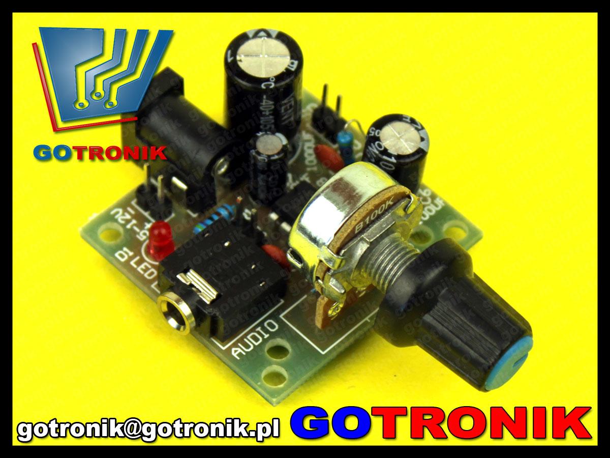 mini wzmacniacz mocy audio lm386