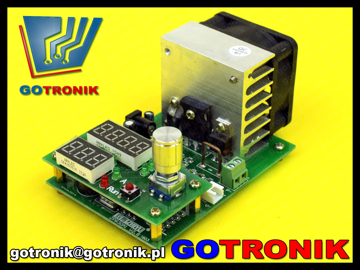 elektroniczne obciążenie Constant current electronic load Discharge 9.99A 60W 30V battery capacity tester