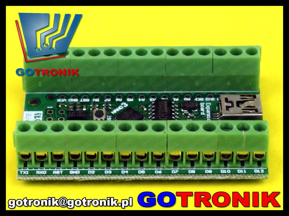 Arduino nano 3.0 atmega328p 16mhz usb terminal block adapter