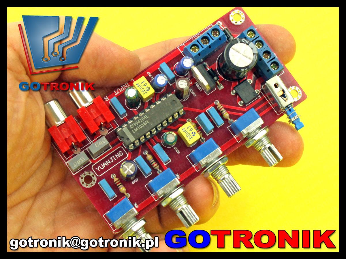 przedwzmacniacz audio LM1036