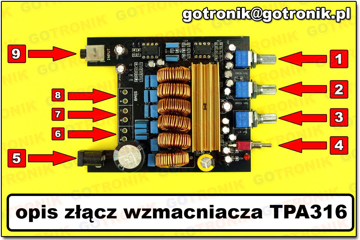 TPA3116 wzmacniacz mocy audio HiFi 2x50W + 100W subwoofer