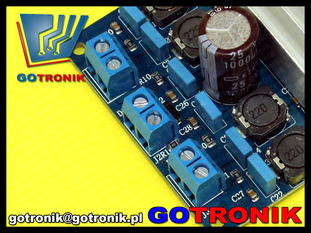 wzmacniacz mocy koncówka audio BTL TDA7492 D Class High Power 2x50W