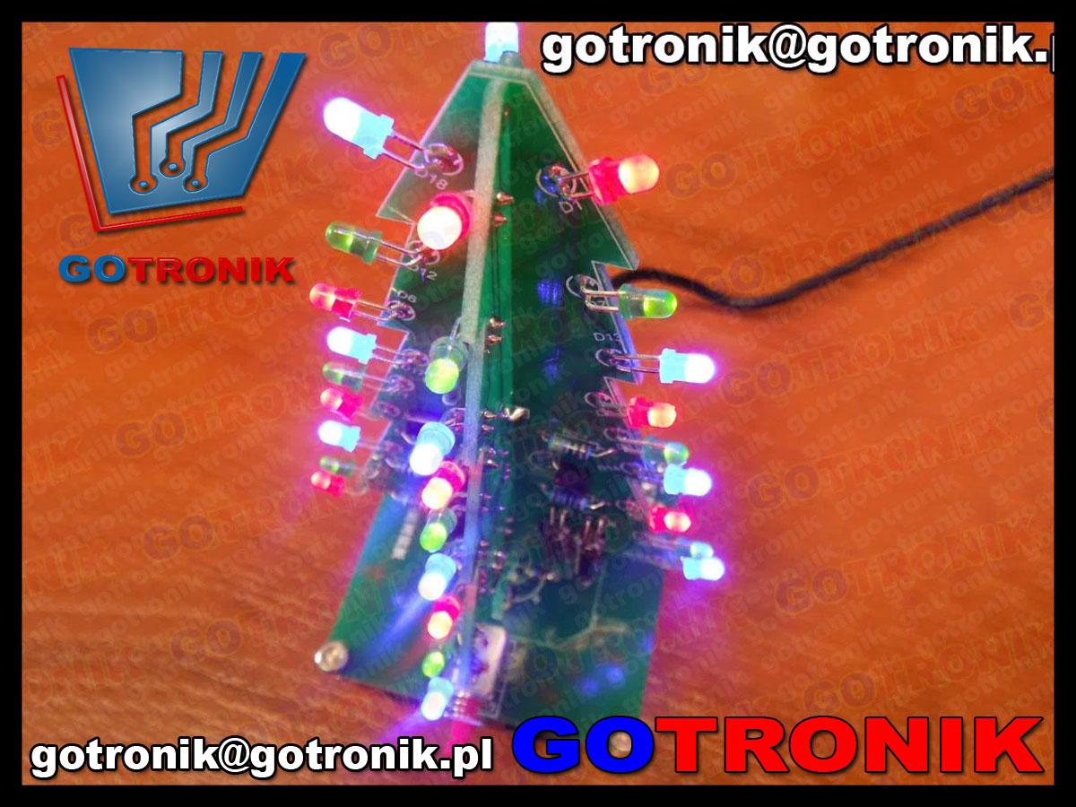 BTE-183 elektroniczne serce LED efekt świetlny zestaw do samodzielnego ontazu kit DIY