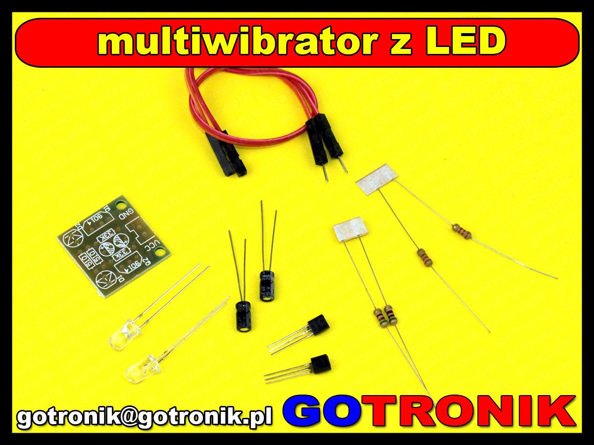 BTE-185 migacz LED multiwibrator