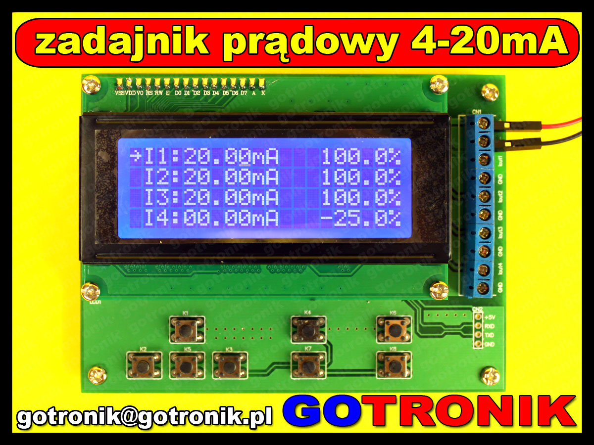 zadajnik kalibrator pętli prądowej loop 4-20mA bte-187