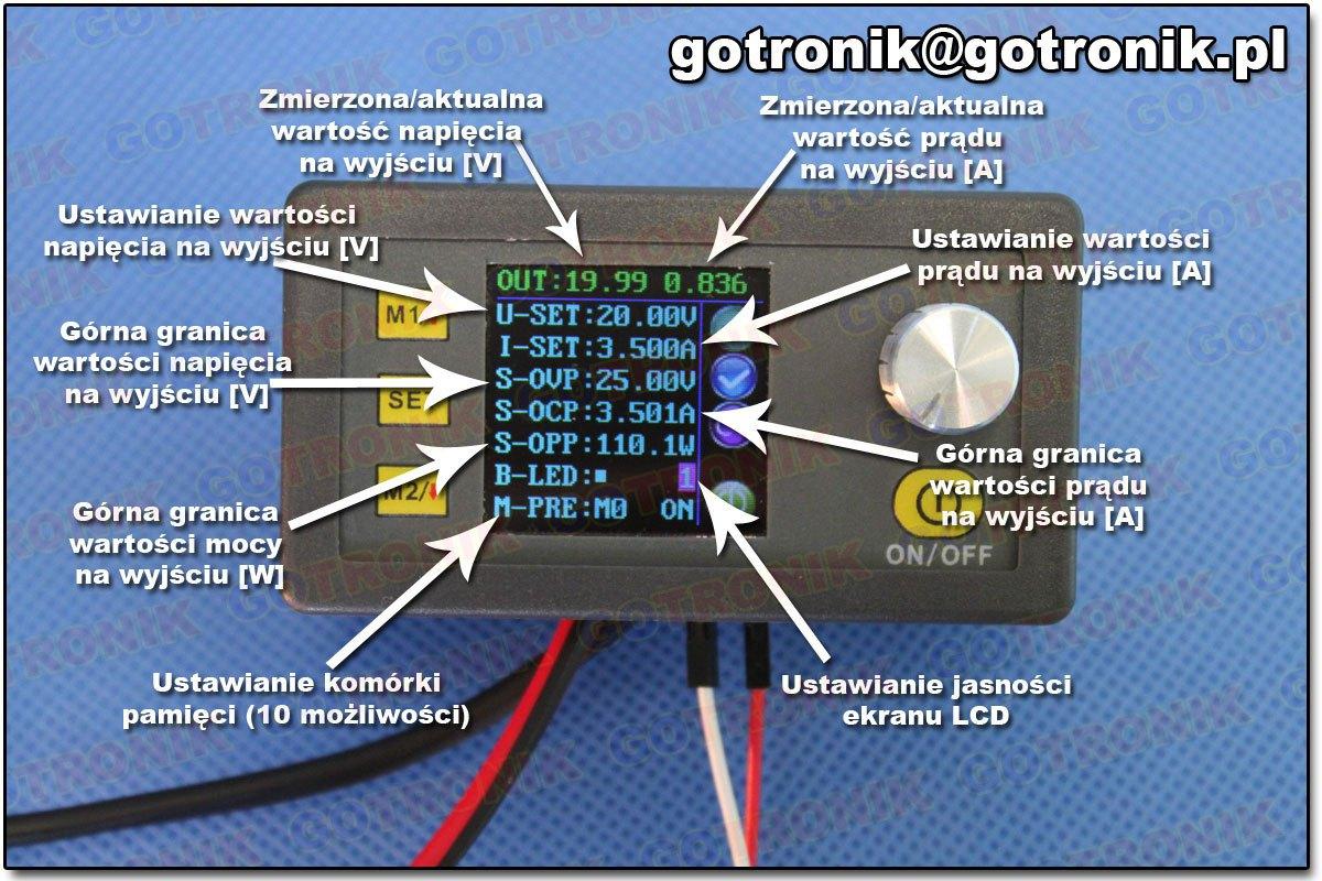 DP50V5A RD moduł regulatora napięcia, prądu, mocy, zasilacz