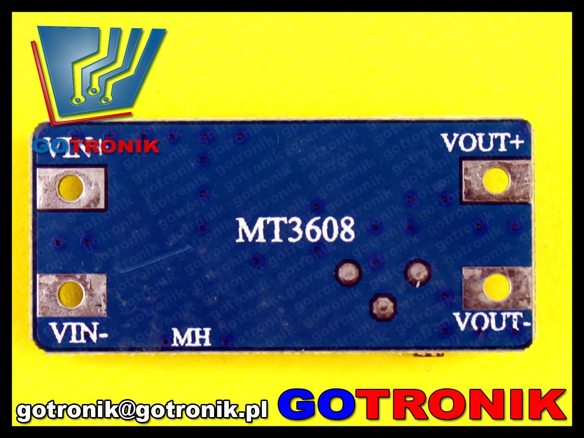 MT3608 impulsowa przetwornica napięcia DC DC 28V step up podwyższająca