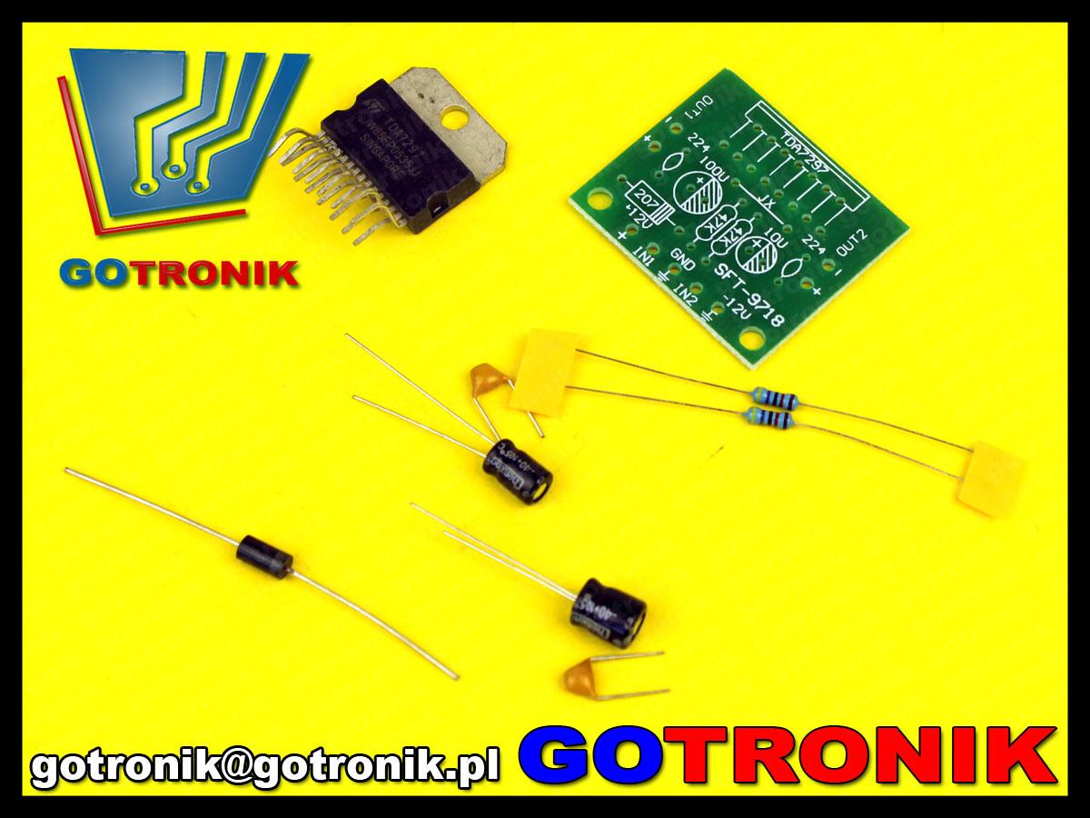 TDA7297 wzmacniacz mocy audio akustyczne KIT DIY BTE-229