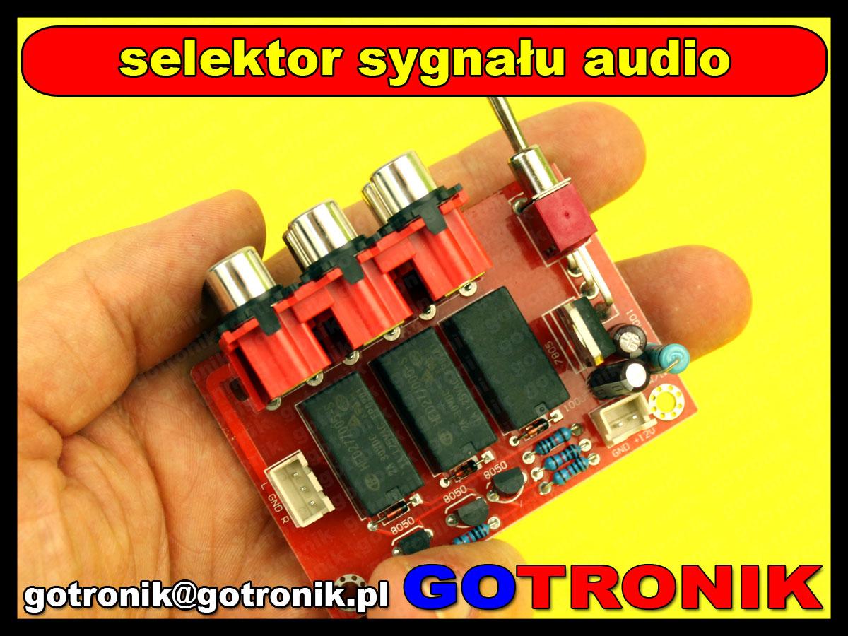 selektro sygnału audio wejść rca przełącznik