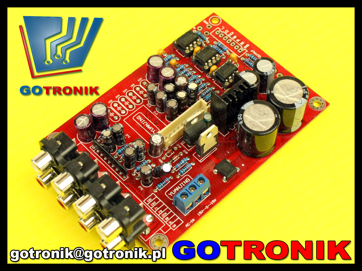 M62446 NE5532 przedwzmacniacz audio sterowanie mikroprocesorowe LCD selektro audio
