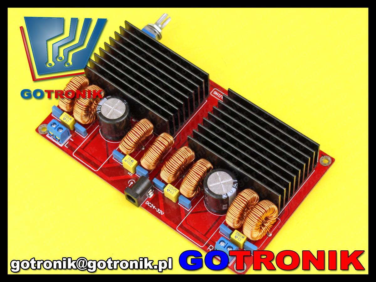 wzmacniacz mocy audio akustyczny 200W + 200W BTL TDA7498
