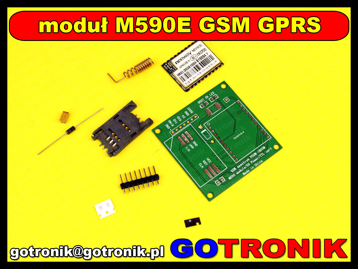 M590E GSM GPRS module 900m-1800m sms The message Diy kits M590 GSM GPRS 900m-1800m sms CPU MCU test