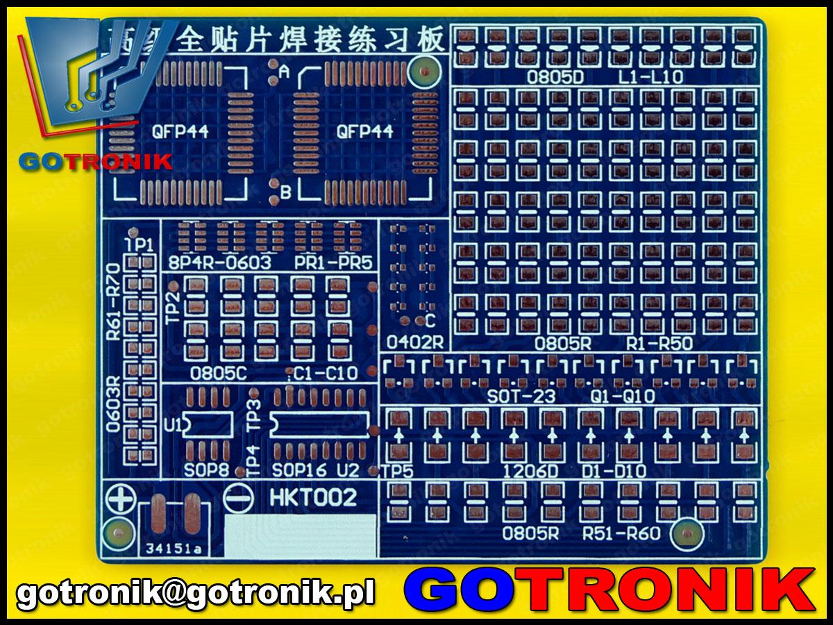 BTE-265 płytka drukowana PCB zestaw dydatkyczny do nauki lutowania podzespołów elektronicznych SMD