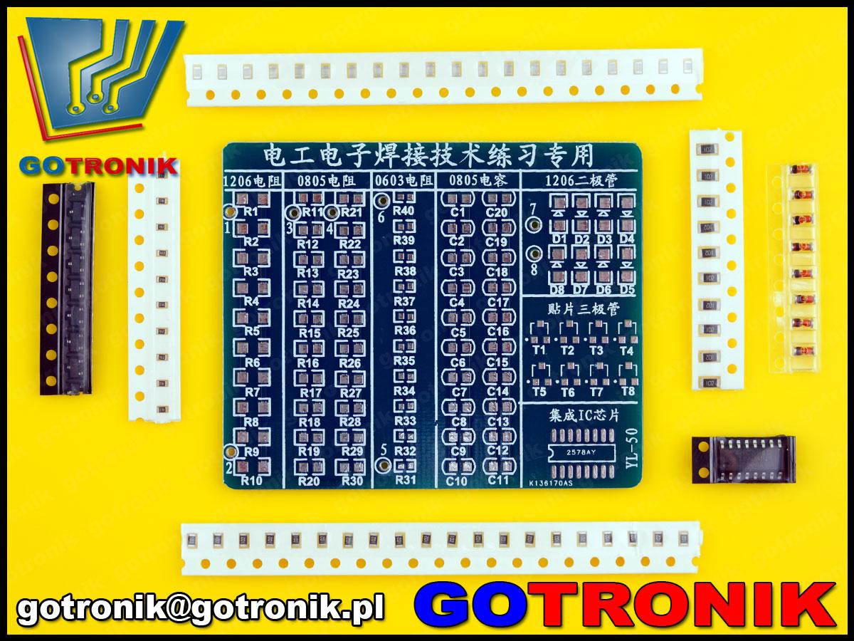 BTE-266 płytka drukowana PCB zestaw do nauki lutowania elementów elektronicznych SMD