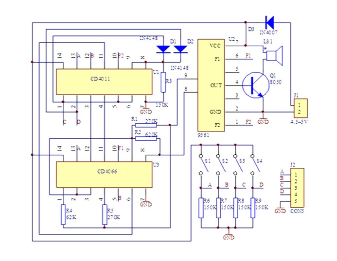 Bsyrena elektroniczna generator sygnałów dźwięków tonów BTE-282