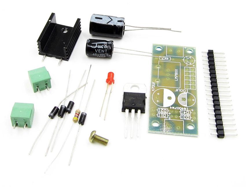 zasilacz stabilizowany DC 12V 7812 liniowy BTE-284 ac zestaw do montażu kit diy ac zestaw do montażu kit diy