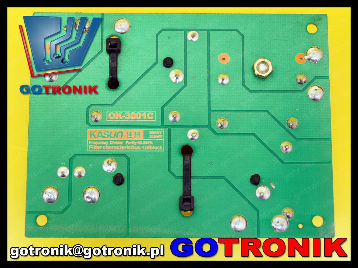 3 trójdrożna zwrotnica głośnikowa Kasun OK-3801C 1000hz 4800Hz 180W 8ohm 8om