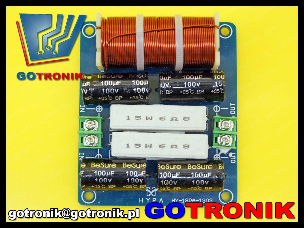 1 drożna zwrotnica głośnikowa pasywny filtr dolnoprzepustowy audio subwoofer 300hz 200W 4-8ohm 12db/oct