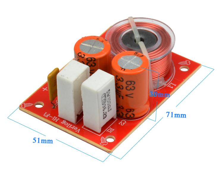 2 drożna dwudrożna zwrotnica głośnikowa WEAH D224 3200hz 3,2kHz 80W 5-8ohm 5-8om 12db/oct