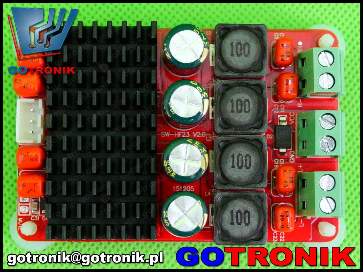 Sanwu, wzmacniacz stereo, wzmacniacz tpa3116, wzmacniacz audio akustyczny, bte-340, 2x50w, 100w, btl, sw-hf23