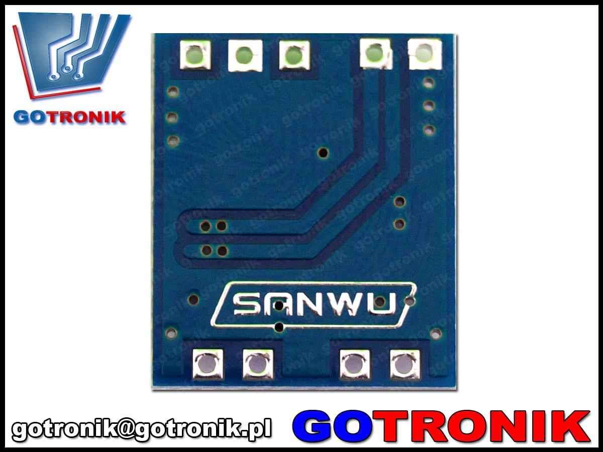 wmacniacz mocy audio stereo 2 x 3W klasa D PAM8403 sanwu bte-343 sanwu bte-343